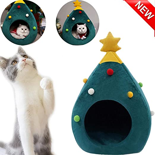 Árbol de Navidad Casa del Gato Idea de Muebles para Gatos Cama ...