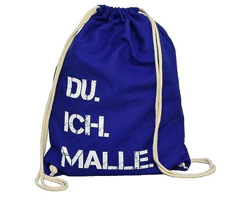 brand new 9d30d 64d47 DU. ICH. MALLE. Rucksack | Turnbeutel | Baumwollrucksack | Festival |  Mallorca | Geschenkidee | Hochzeit | Urlaub | Geburtstag