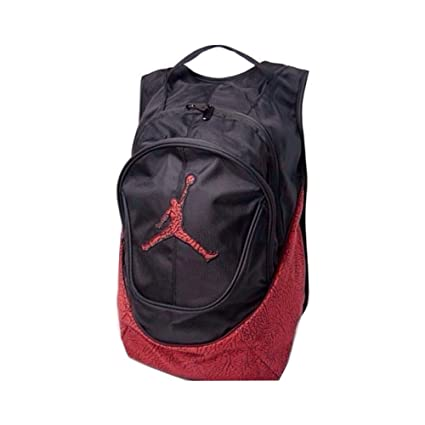1ff7a836d30 Amazon.com: Nike Air Jordan Jumpman Backpack - Red/Black Elephant Pattern:  Sports & Outdoors