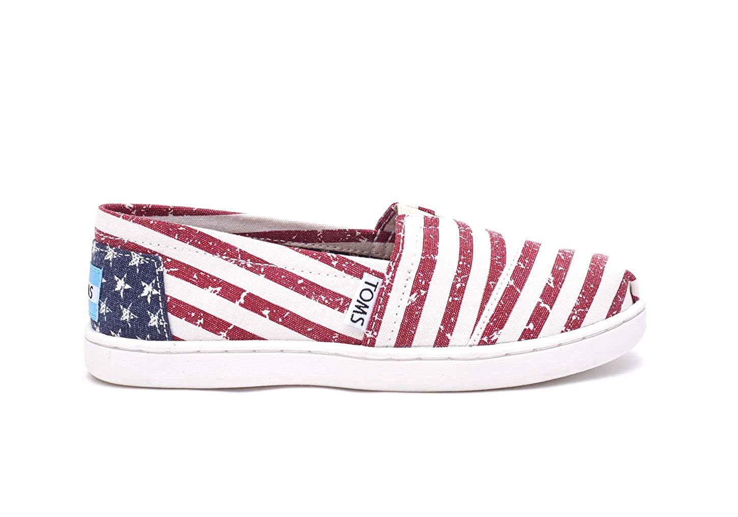 Amazon.com | TOMS Kids Unisex Seasonal ClassicsAmericana Canvas Flag Loafer (1 Little Kid M) | Loafers
