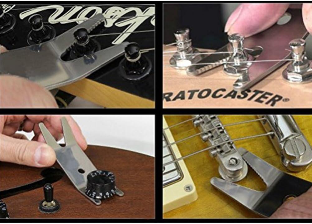 ROSENICE Chiave per riparazione e rimozione chitarra a manopola in acciaio inossidabile