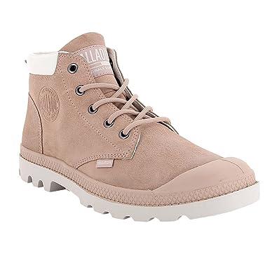 Palladium Pampa Low Cuff Lea braun Moonrock Schuhe Schnürstiefel Boots Damen