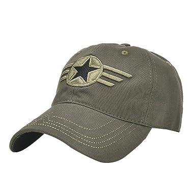 56d55d6c Women Men Cap Hat Embroidery Adjustable Baseball Cap Piebo Letter Hip-Hop  Mesh Cap Shade Hat Summer Sun Hat 5~60cm (Army Green-Star): Amazon.co.uk:  Clothing