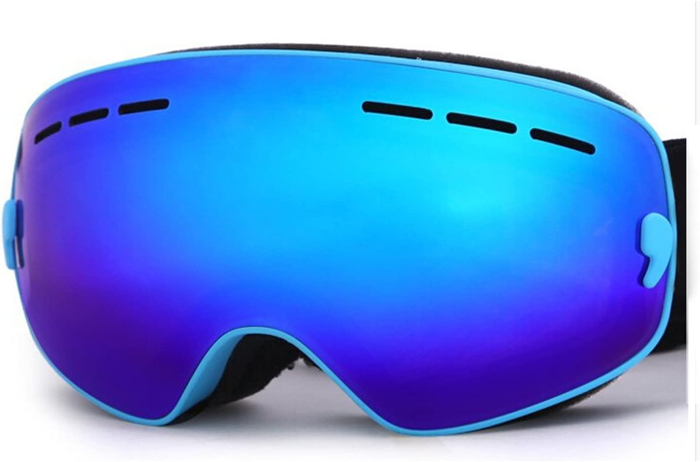 HiCool Ski Goggles, No Border Extra Large Viewing Skiing Goggles with Imported Italian Lens - Anti-Fog UV Protection Detachable Wide Spherical Goggle Lens