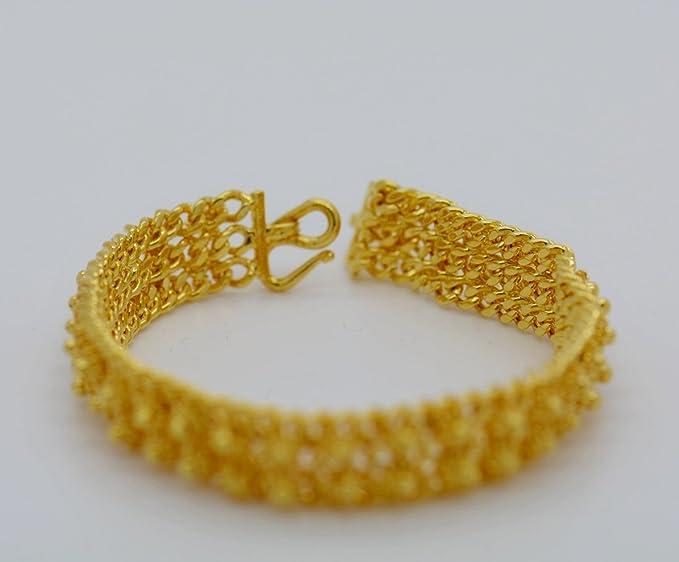 Gold Heart Bracelet,Gold Chain Link Bracelet,Yellow Gold Plated Bracelet,22K 23K,24K Gold,Gold Bangle Bracelet,Thai Baht Gold Jewelry,Easter