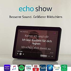 Echo Show (2. Gen.) Durch Alexa in Verbindung bleiben, Schwarz