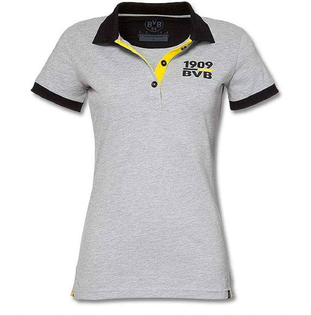 BVB 09 Borussia Dortmund Polo para mujer Camiseta, gris: Amazon.es ...