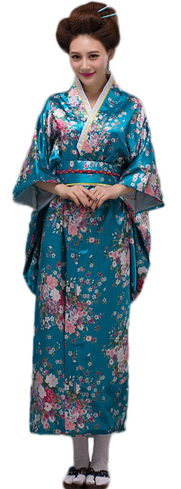 182e68df6a Soojun Womens Traditional Japanese Kimono Style Robe Yukata Costumes ...