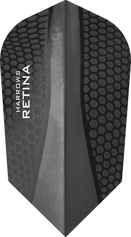 PerfectDarts 5 x Sets Harrows Retina Black Dart Flights Slim.