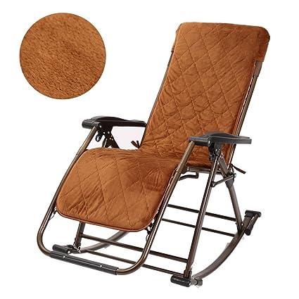 Lazy sofa Silla Mecedora Plegable Zero Gravity Rocker Silla ...