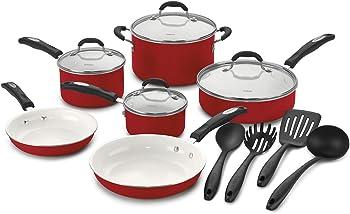Cuisinart 57-14CR Ceramic 14-Pc. Cookware Set
