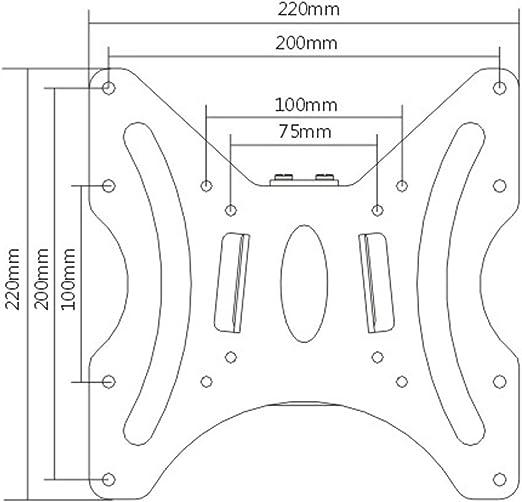 Ultra-Slim Black Fixed//Flat Low-Profile Wall Mount Bracket for Acer V6 V246HL bmid 24 inch LED Monitor