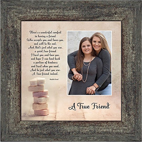 A True Friend, Personalized Picture Frame for Your Forever Best Friend, 10x10 6312BW