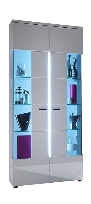 trendteam 1320-135-01 vitrine wohnzimmer highboard nightlife in ...