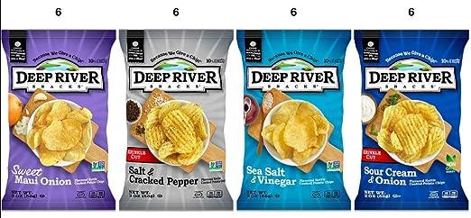 Deep River Variety Pack, (sal y pimienta, sal y vinagre ...