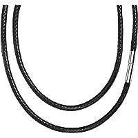 3 mm Collar de cuero de ancho