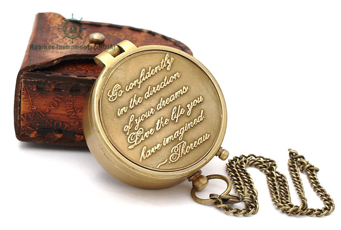 Hiking and Touring RIIMG106 Roorkee Instruments India Engraved Compass Directional Magnetic Pocket Personalized Gift for Camping