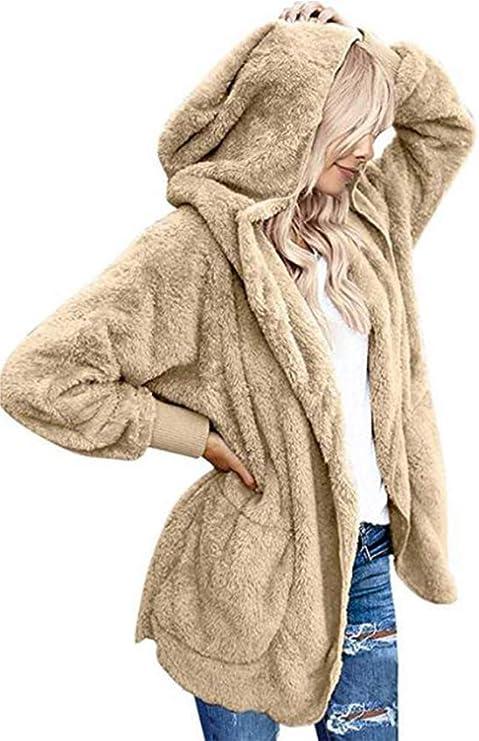 Beyove Cappotti Donna Pelliccia Giacca Teddy Bear Cappotto di Capispalla Cardigan Invernale Casuale