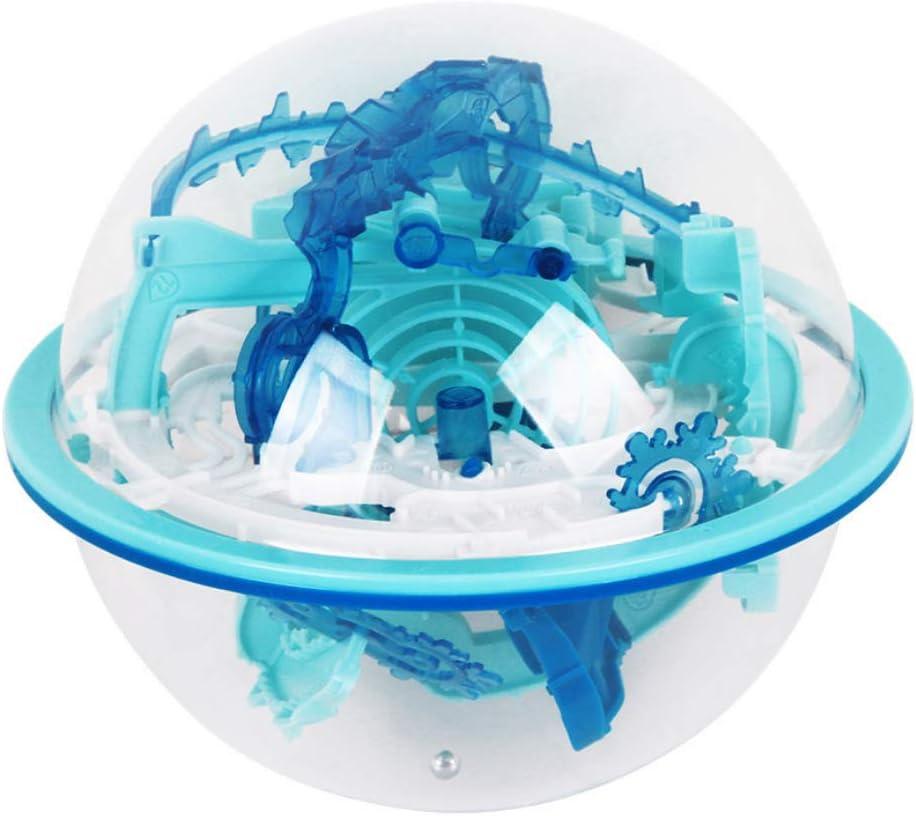 Yisily Bola Juguetes 3D Laberinto Rompecabezas De Inteligencia De Bolas para Niños Juguetes Educativos Portátiles Barreras Desafiantes Espacio Entrenamiento del Juguete para Los Niños, 1set