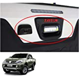 Powerwarauto Rear Tail Gate Bowl + Plastic On Camera Cover Trim for Mitsubishi L200 Medium Matte