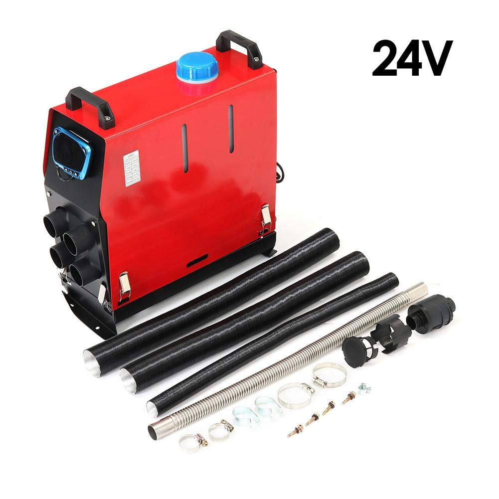 24V\ with remote control CampHiking Car Heater,Diesel Air Heater 5000 W 12 V//24V Car Heater For Steam Boat Bus LCD Latest Key Switch Silencer