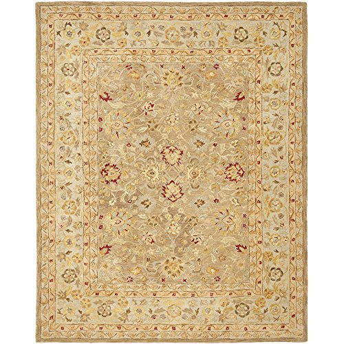 Safavieh Anatolia Collection AN522B Handmade Traditional Oriental Tan and Ivory Wool Area Rug (8′ x 10′)