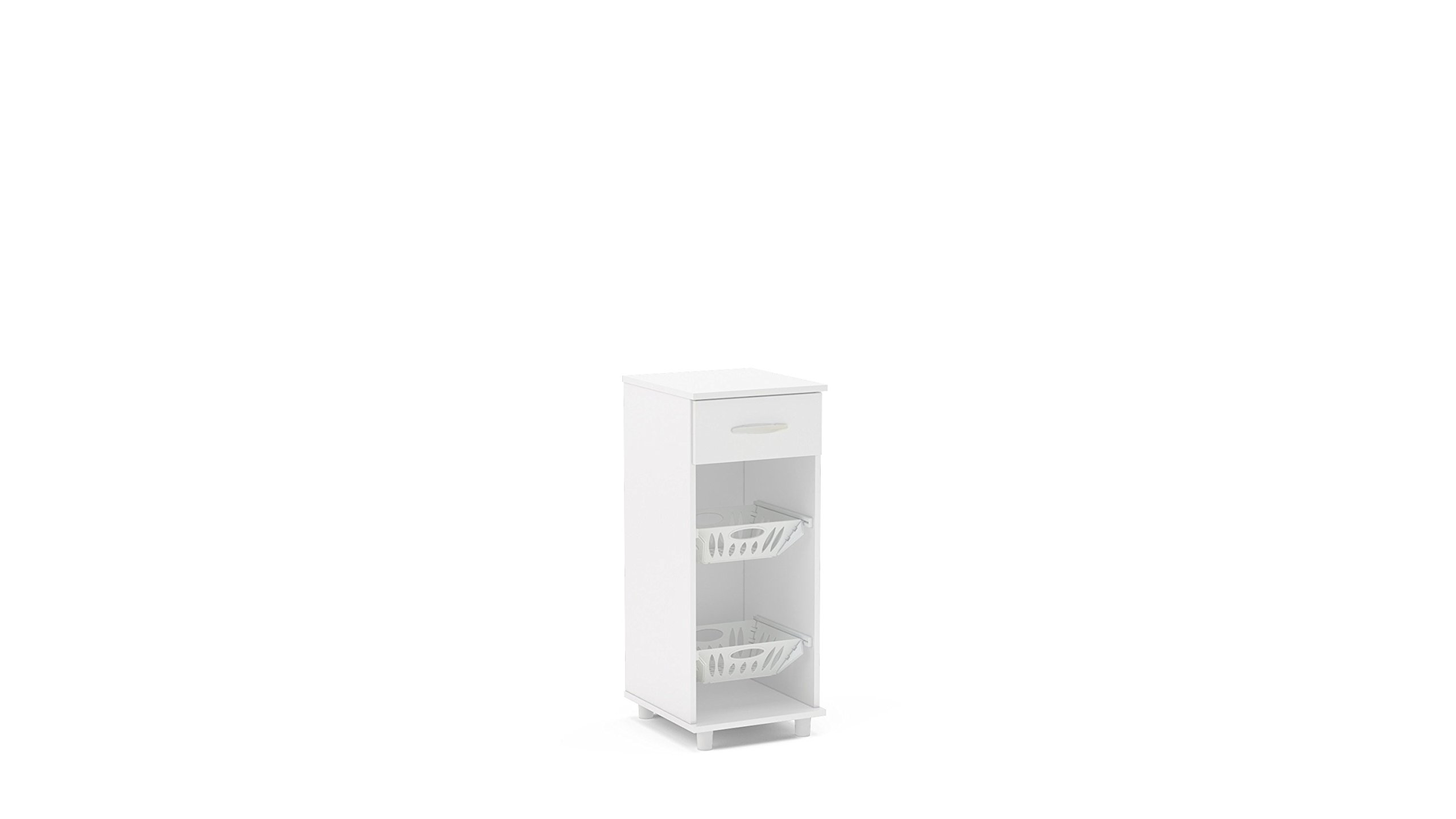 Polifurniture 120933420001 Compact Fruit Storage Cabinet, White