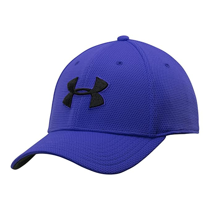 8098d2d5c285 Under Armour Men's Blitzing II Stretch Fit Cap, Royal /Black, Medium/Large