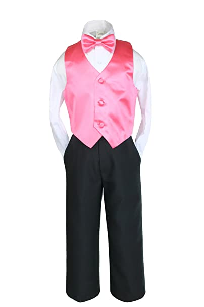 Amazon.com: unotux 4 Pcs Formal niños chaleco Pajarita ...