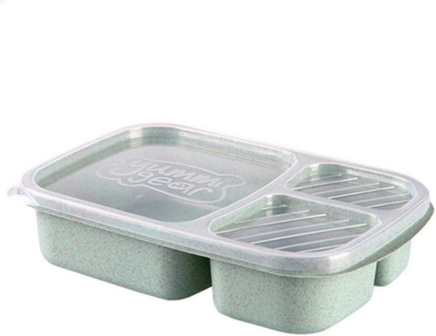 LZZB Fiambrera Bento Box Vajilla de Grano de Madera Contenedor de Almacenamiento de Alimentos Estudiante Niños Oficina Escolar Fiambrera portátil Bento Box Fiambrera