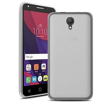 Tumundosmartphone Funda Gel TPU Color Transparente para Orange Rise 51 / ALCATEL PIXI 4 (5