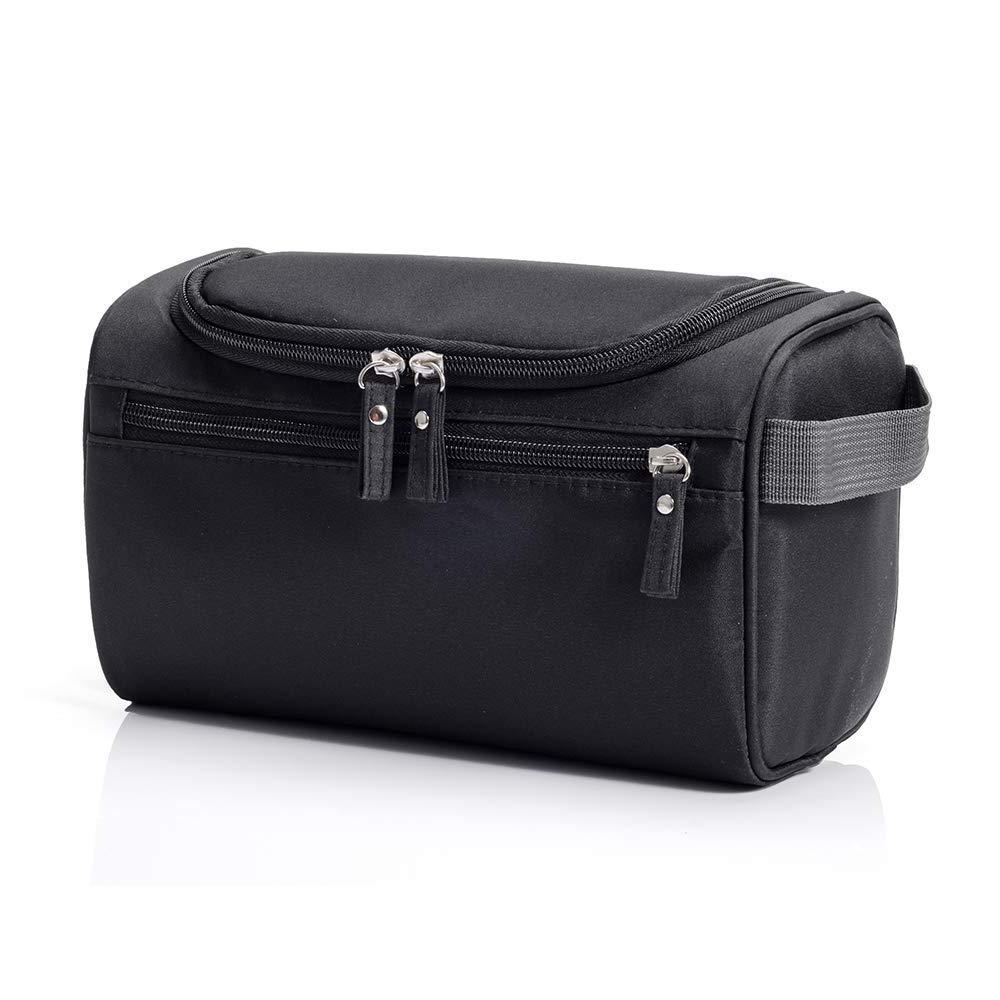 Toiletry Makeup Bag Hanging Travel Waterproof Organizer, Bathroom Storage Dopp Kit with Hook for Men and Woman Black, Blue Gray Black