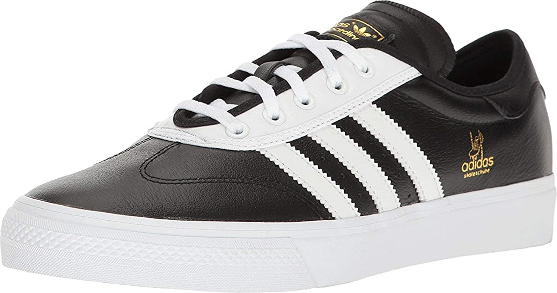 buy popular c9b35 8971c adidas Mens Adi-Ease Universal ADV BlackWhiteGold Metallic Athletic Shoe