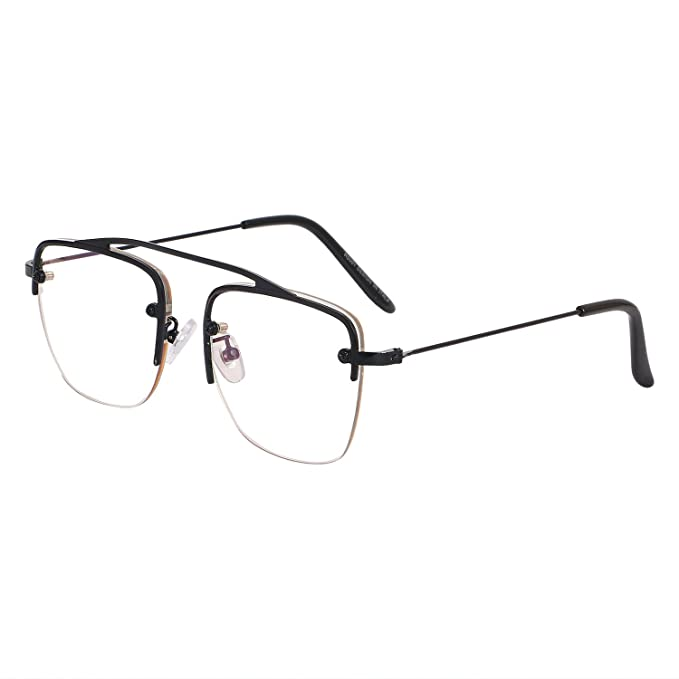 a657256fa8 Aye Roof Black Square Raees Frames For Men (UV Protected) (Medium Size)   Amazon.in  Clothing   Accessories
