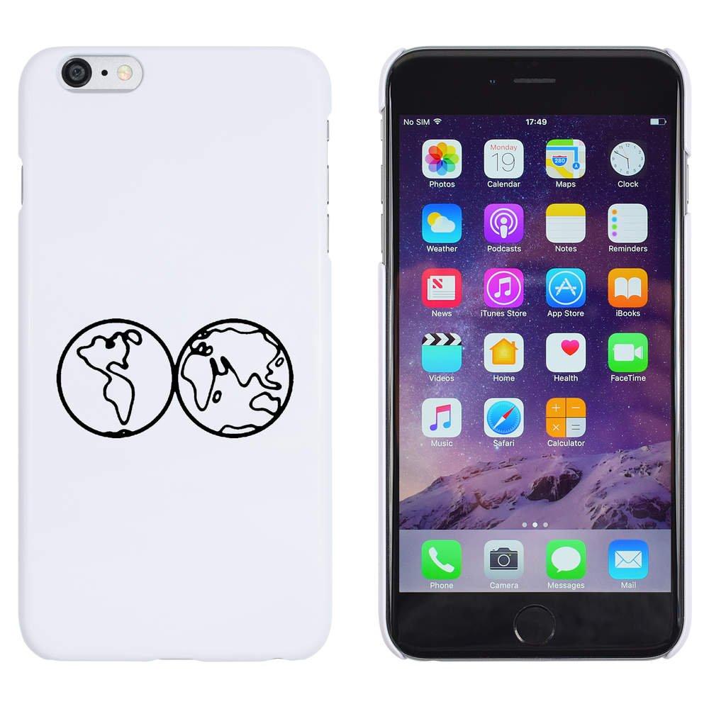 Carcasa para iPhone 6 Plus /& 6s Plus Azeeda Blanco Mapa del Mundo Funda MC00157018