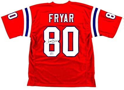 best cheap 8b335 777a7 Irving Fryar Signed New England Red Custom Jersey With