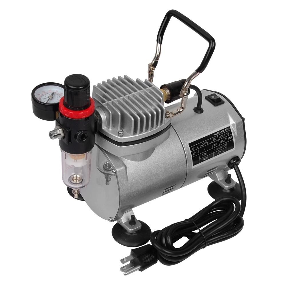 Spray Painting With A Compressor Part - 50: Amazon.com: Multi-purpose Professional Airbrush Kit With 3 Dual-action Spray  Airbrushes U0026 Compressor U0026 6u0027 Air Hose U0026 Brush Holder Ta