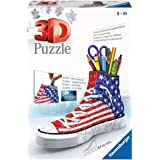 Ravensburger Sneaker American Style 108 Piece 3D Jigsaw Puzzle for Kids and Adults - Easy Click Technology Means Pieces Fit T