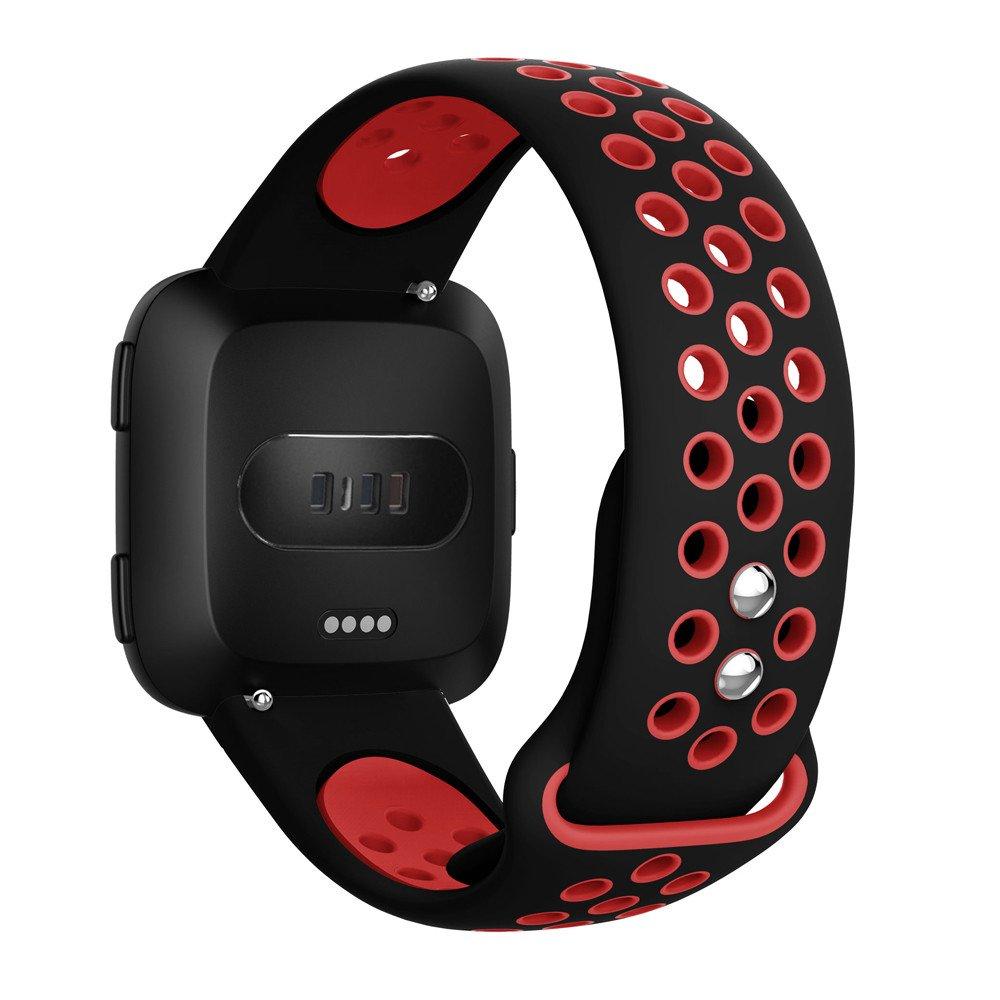 LANSKIRT Reemplazo con Orificios de ventilación Suave Silicona Correa Deportiva Recambio Brazalete Extensibles Pulsera para Fitbit Versa: Amazon.es: ...