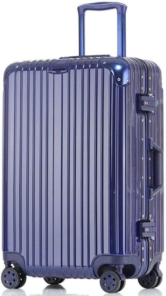 JIANPING Valise Trolley PC Aluminium Cadre Valise Roue Universelle Bagages 20 Pouces Mot de Passe embarquement Cas de Douane Valise Trolley Color : Blue, Size : 20 inch