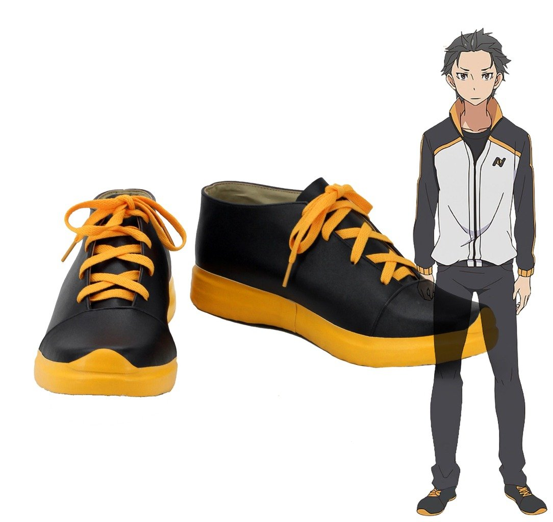 Re:ZERO Starting Life in Another World Subaru Natsuki Cosplay Shoes Boots Custom Made 5 D(M) US Male