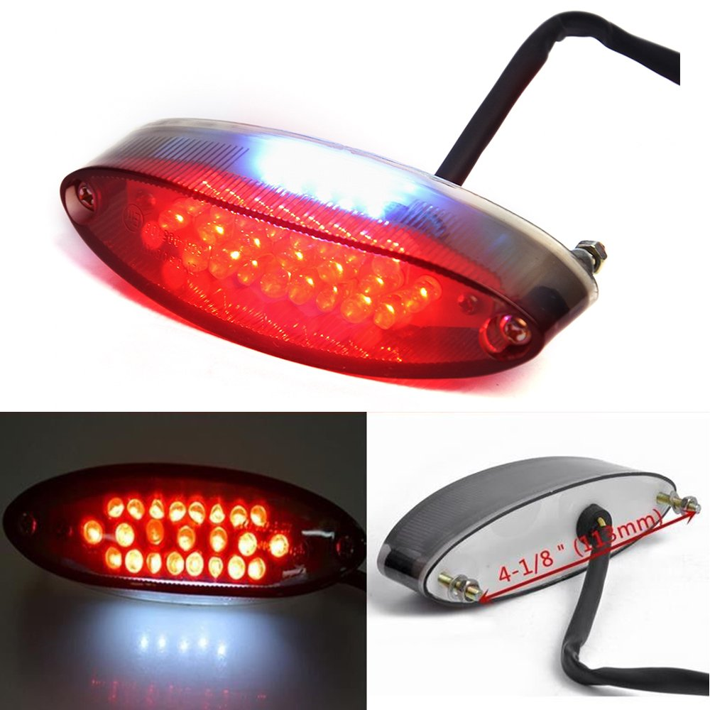 28pcs LED Motorcycle Motorbike Tail/Brake Light Number Plate lights For Cruiser Bike ATV Rich Choices