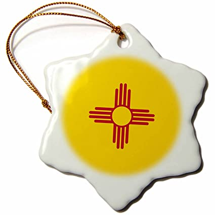Buy 3drose Orn1583911 Flag Of New Mexico Red Sun Symbol Of The Zia