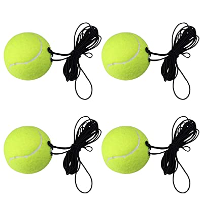 Coxeer Tennis Training Ball Set, 4PCS Tennis Training Ball Creative Rebound Ball Exercise Tennis Ball with Rope for Sport Tennis Balls : Sports & Outdoors