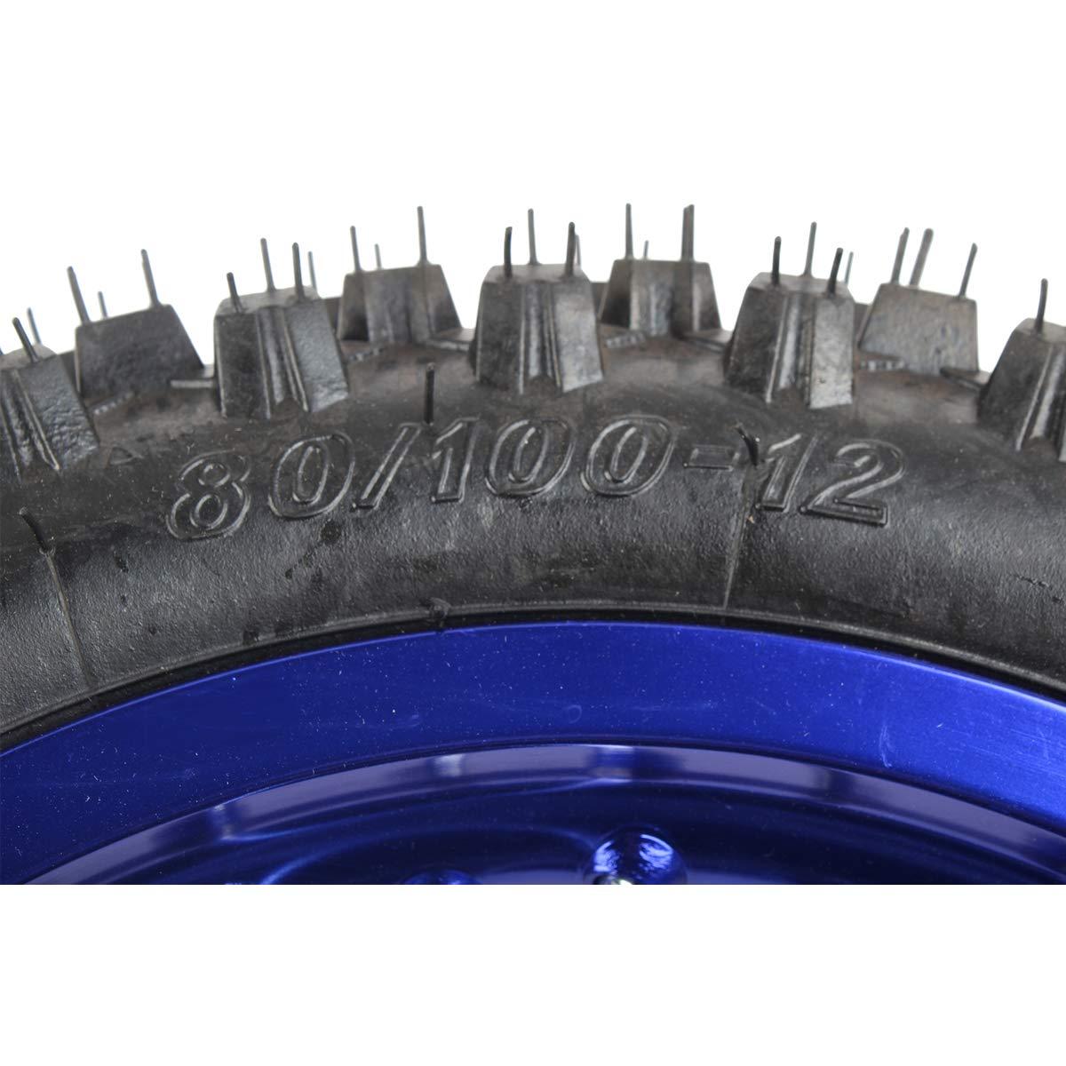 X-PRO 12 Rear Wheel Rim Tire Assembly for 110cc 125cc 140cc 150cc 160cc Dirt Bikes