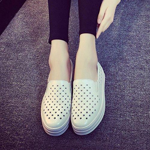 Primavera/verano sandalias de cuero/Plataforma zapato pedales gente perezosa/Mayor de zapatos de mujer casual A