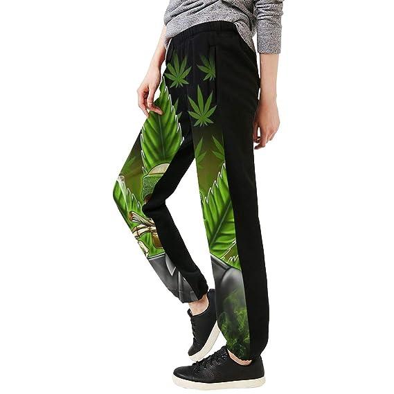 Yaitty - Pantalones de chándal para Mujer, diseño de Hojas de ...