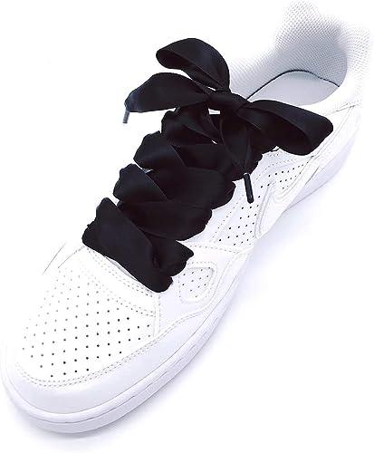 1Pair 2CM Wide Various colors Flat Shoelaces Ribbon Satin Shoe Laces Shoestrings
