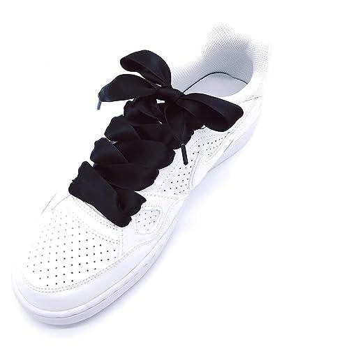 49840286952 Amazon.com  2 Pair Wide Flat Shoelaces Silk Ribbon Satin Shoe Laces Sport  Sneakers Shoe Strings  Shoes