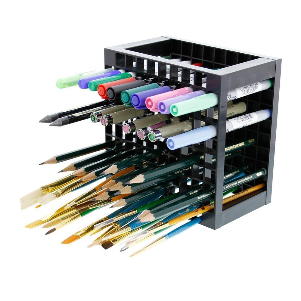 marqueurs et bien plus encore peinture brosses /Pawaca support de bureau Organiseur support pour stylos /à encre gel 96/trou Plastique crayon et support pour brosse/ crayons de couleur